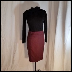 Beautiful Lined Maroon Pencil Skirt 8
